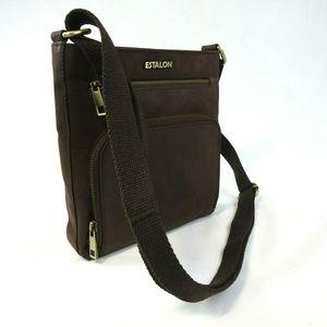 Estalon Soft Leather Crossbody Bag Purse
